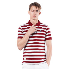 Hoffen 2017 Summer Men's Polo Shirt Short Sleeve Striped Polo Shirts for Men Slim Fit Solid Mens Tops Brand-clothing WS138