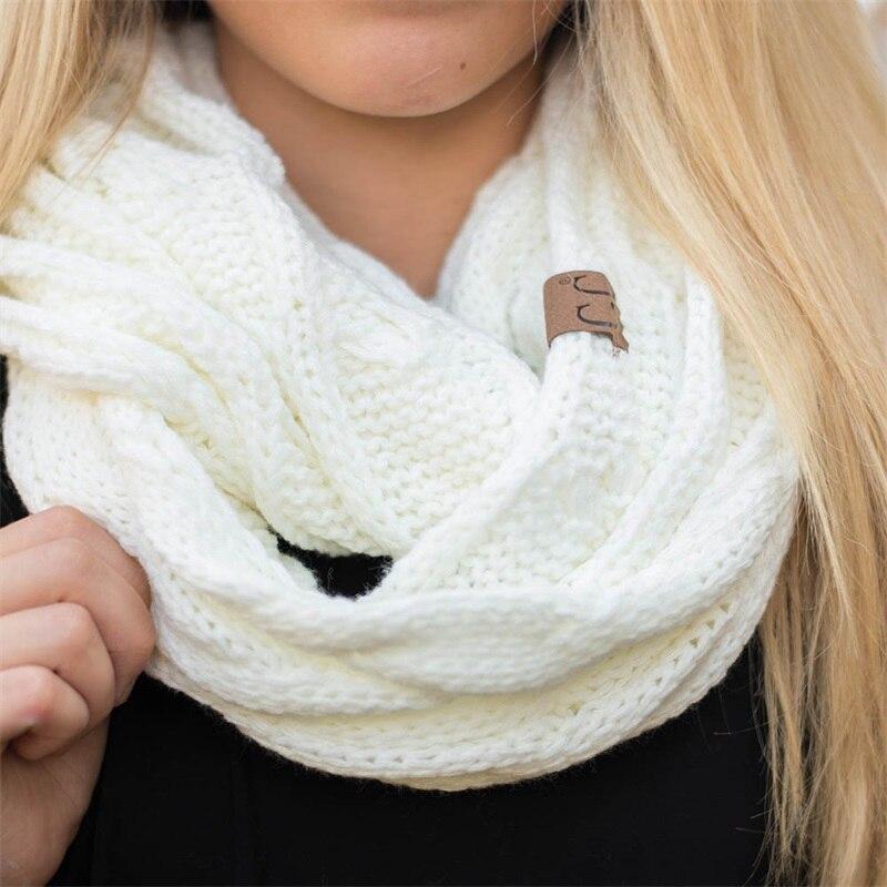 CC Cable de punto anillo bufanda mujeres invierno suave infinito ...