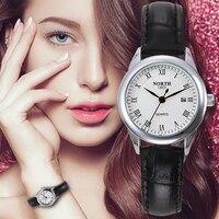 Women Watches 30M Waterproof Genuine Leather Strap Ladies Wristwatches Fashion Casual Round Stainless Steel Quartz Female