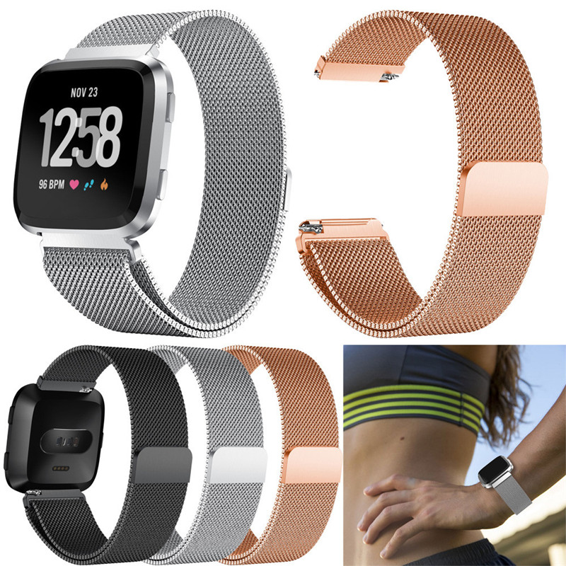 Watch Band Strap For Fitbit Versa Luxury Milanese Magnetic Loop Stainless Steel Watch Band Strap For Fitbit Versa May.29