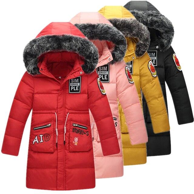 97700edd4 Aliexpress.com   Buy Girls Winter Long Thickened Down Jackets 30 ...