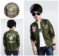 120-170 Boys Jackets Pilot Outerwear Kids Bomber Jacket Cardigan Soldier 2016 Spring Autumn Coat for Boy