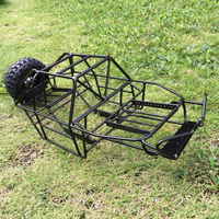 New metal rc car shell roll cage w/ spare tire holder assembly for 1/10 scale axial scx10 remote control rock crawler toys car