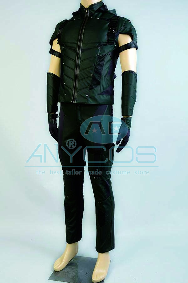 The Green Arrow Oliver Queen Uniforme Adultos pantalones superiores - Disfraces - foto 2