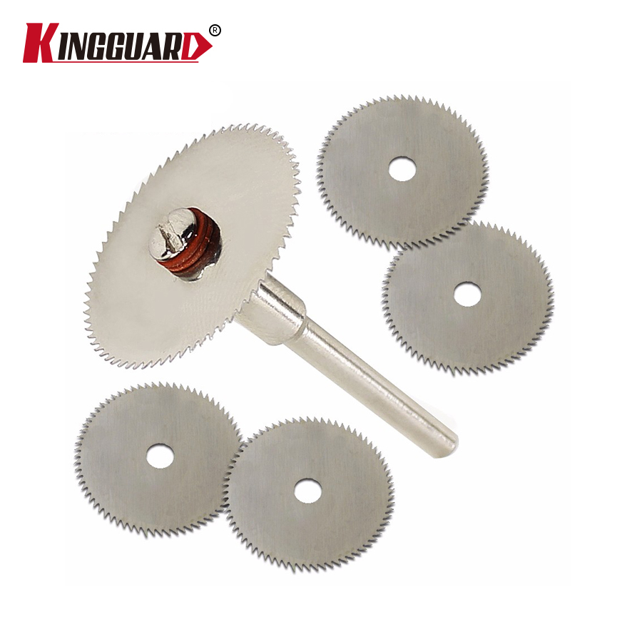 6pcs/set Mini HSS Circular Saw Blade Rotary Tool For Dremel Metal Cutter Power Tool Set Wood Cutting Discs Drill Mandrel Cutoff hilda 10pcs set 30mm mini diamond saw blade silver cutting discs with 2x connecting shank for dremel drill fit rotary tool