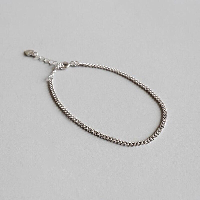 TB6 925 argent femmes bracelet peut réglable envoyer avec sac Grains style Plus Longue 19 cm envoyer avec sac