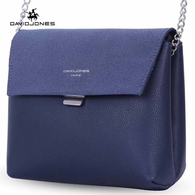 97b70bbce757 DAVIDJONES women shoulder bags pu leather female handbag small lady chain  messenger bag girl brand crossbody bag drop shipping