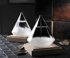 1PC NEW Quality Diamond Shape Bottle Weather Storm Forecast Glass Crystal Drops Gift Home Decor JY 1191