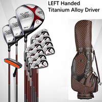 Brand PGM, 12 pieces golf clubs LEFT handed Titanium Alloy for Rod of Driver, MENS golf clubs complete set of Graphite shaft