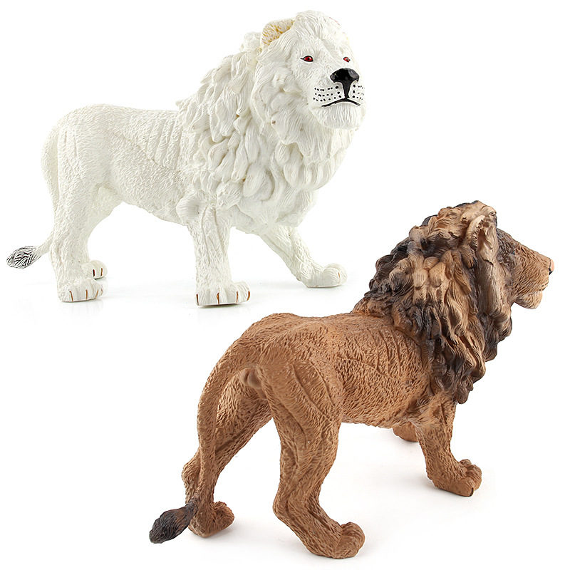 Wild Carnivorous animal Models figures toys PVC Simulation Lion Decorate collection toys