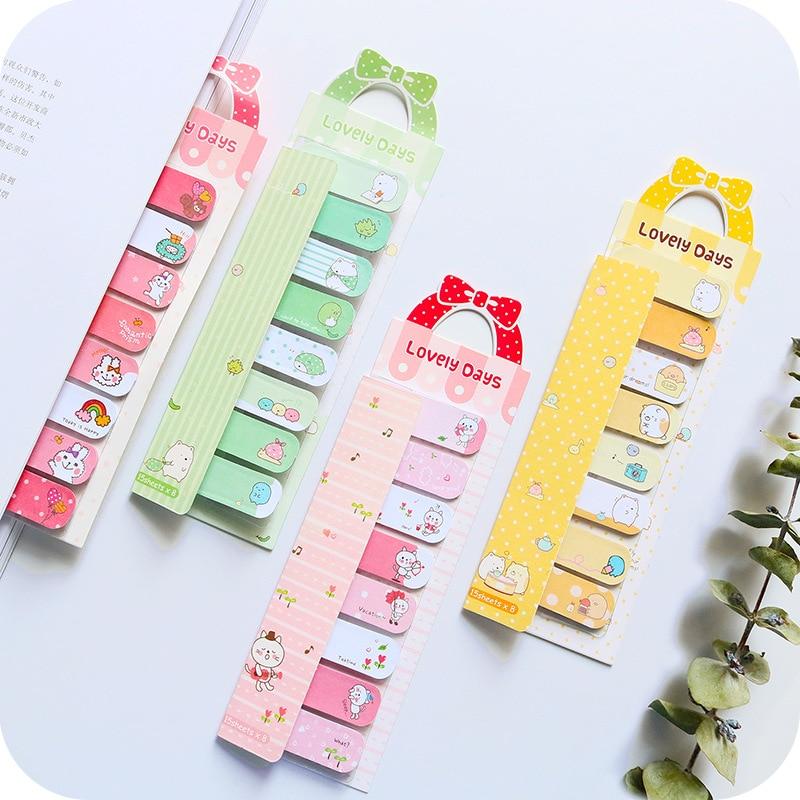 Kawaii Memo Pads Stationery Papeleria Cute Girl Sticky Notes Stickers Scrapbooking Cat Nota De Papel Cartoon Animal Memo Pad