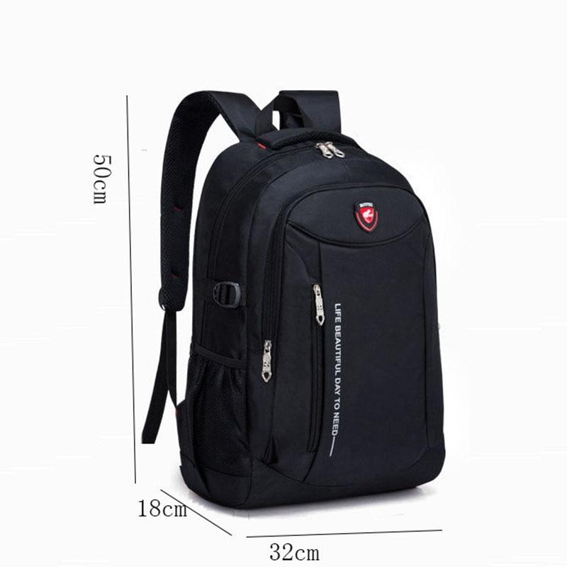 Men Fashion Travel Bags 2019 Multifunction Rucksack Waterproof Oxford Student Schoolbag Casual Men Travel Man Teenager Backpack
