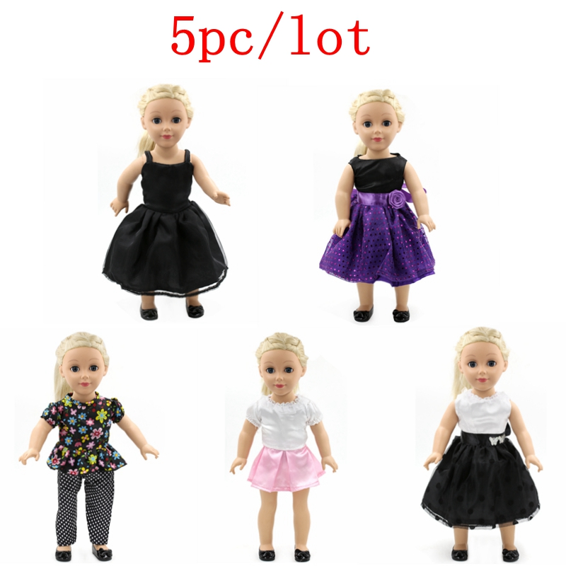 5pc/lot American Girl Doll Clothes Princess Dress Suits Doll Clothes for 18 inch American Girl Doll Baby Born Zapf Doll Clothes my generation doll clothes multicolor princess dress doll clothes for 18 inch dolls american girl doll accessories 15colors d 14
