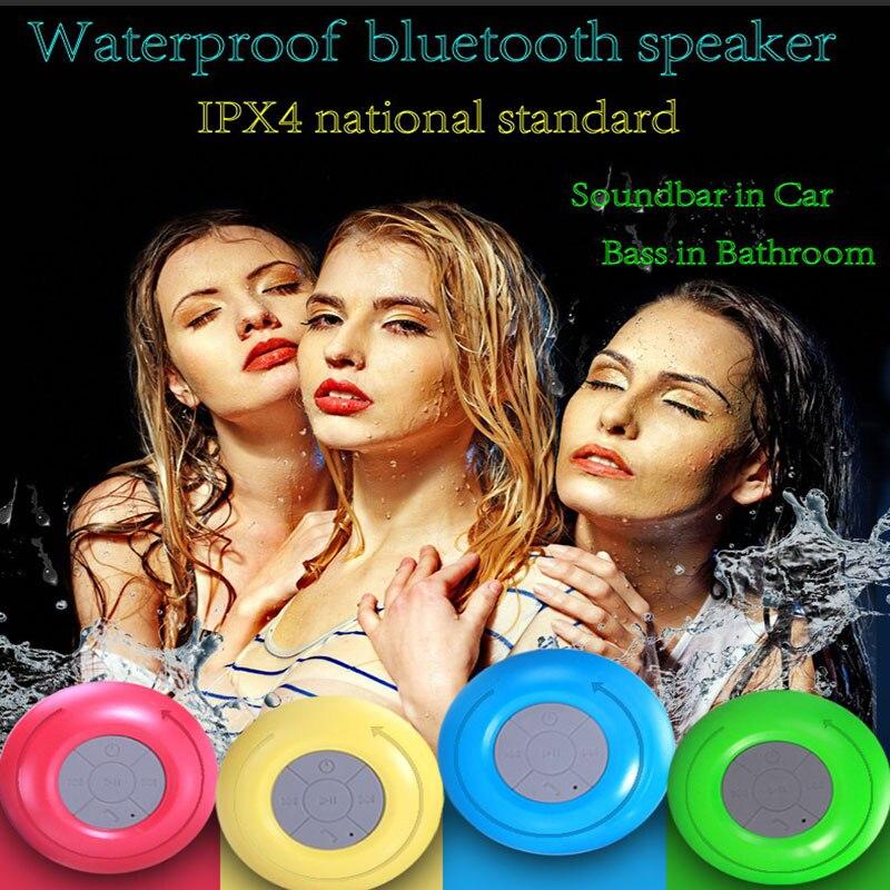 HIFI À Prova D 'Água Mini Alto-falante Bluetooth Subwoofer portátil Chuveiro soundbar música bluetooth receptor de áudio de chamada sem fio alto-falantes