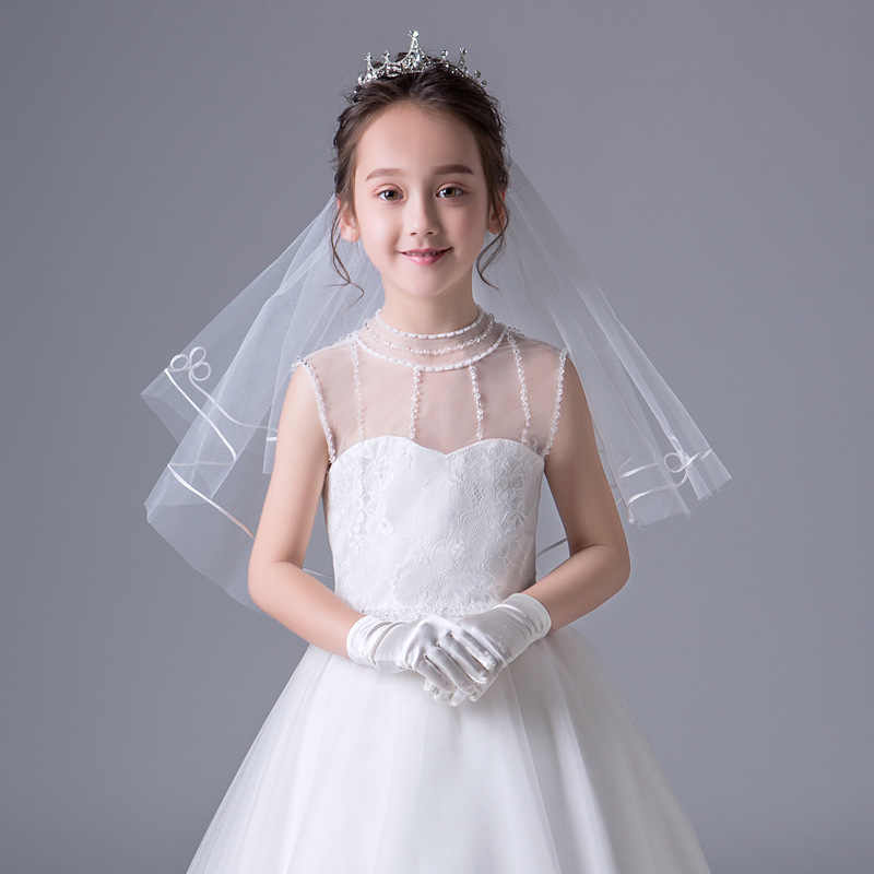 1d3c3438e31b1 Detail Feedback Questions about In Stock White/Ivory Flower Girl Veils Two  Layers White First Communion Hair Accessories 2019 New Arrivals on  Aliexpress.com ...
