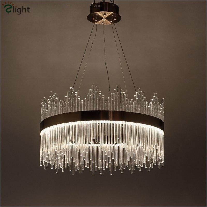 ヾ(^▽^)ノPoste moderno de lujo de cristal LED colgante luz lustre ...
