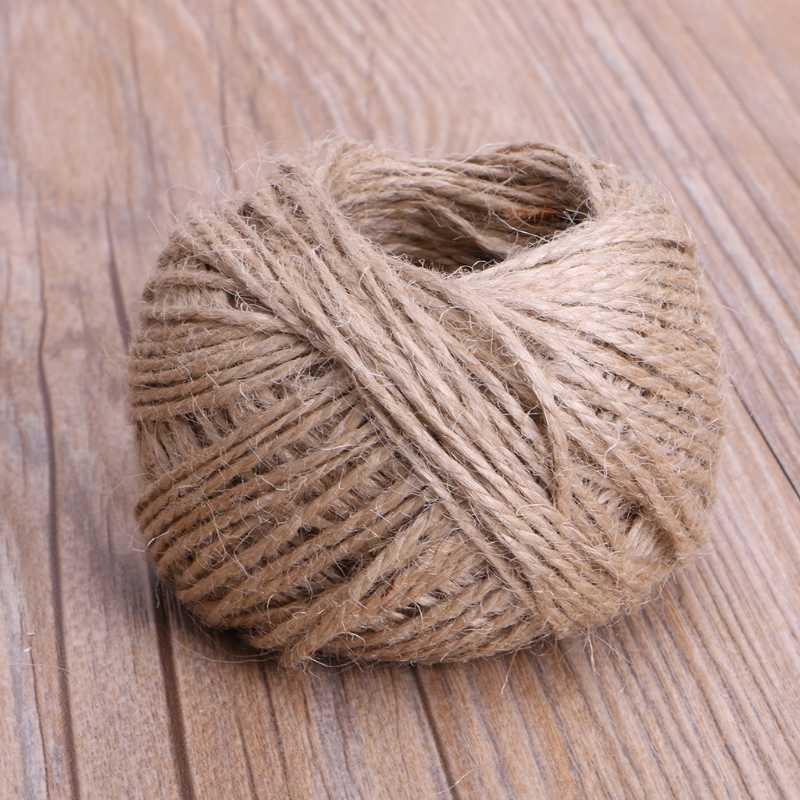 25/50/100m 1 Roll Jute String Hemp Rope For Bracelet Necklace DIY Craft Decor