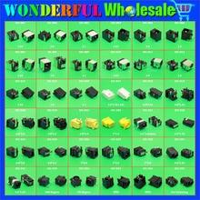 Mẫu đóng gói: 45 models, 90 cái, máy tính xách tay dc jacks cho acer/asus/sony/toshiba/hp/samsung/fujitsu/lenovo/ibm/dell...