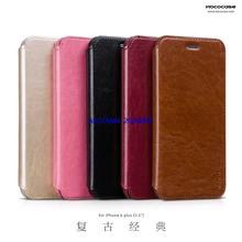 Original Genuine HOCO Case For iPhone 6 plus 5.5 inch Retro Classic PU Leatther Vertical Flip Cover Mobile Phone Bag Freeship