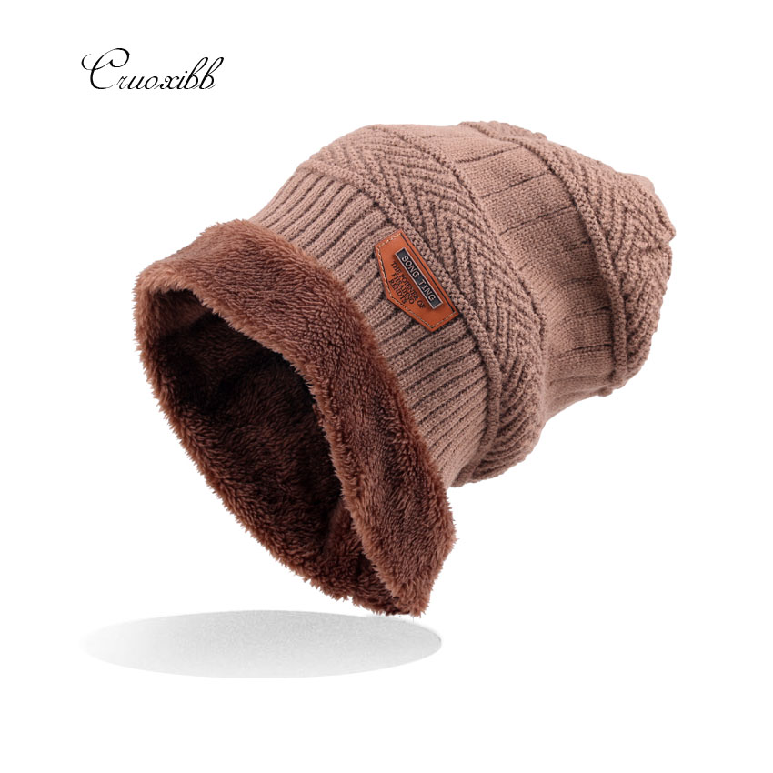 CRUOXIBB 2017 Brand Women Beanies Hats Knit Men's Winter Hat Caps Skullies Hats For Men Women Beanie Warm Baggy Wool Knitted Hat 2017 winter women beanie skullies men hiphop hats knitted hat baggy crochet cap bonnets femme en laine homme gorros de lana