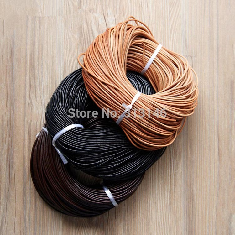 100% Genuine Leather Round Leather Cord Jewelry Making