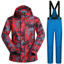 ski wear Breathable and Waterproof Ski Jacket men Winter Ski Suit Snowboard suit