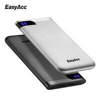Easyacc 10000 Mah Power Bank Portable 2 Ports Ultra Thin Polymer LCD Dual Output Type C