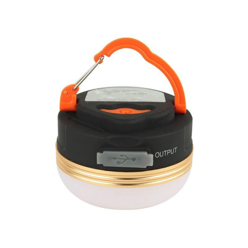 CLAITE Portable LED Tent Lamp 1800mAh Power Bank Camping Light Magnet 3 Modes Lantern USB Rechargeable
