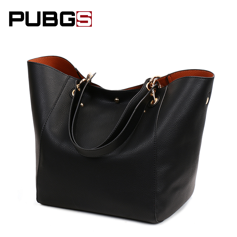 Female Shoulder Bag Cross Section Square Tote PU leather Soft Surface Two Shoulder Strap Retro Combo Packages 2018 PUBGS New square pu tote bag