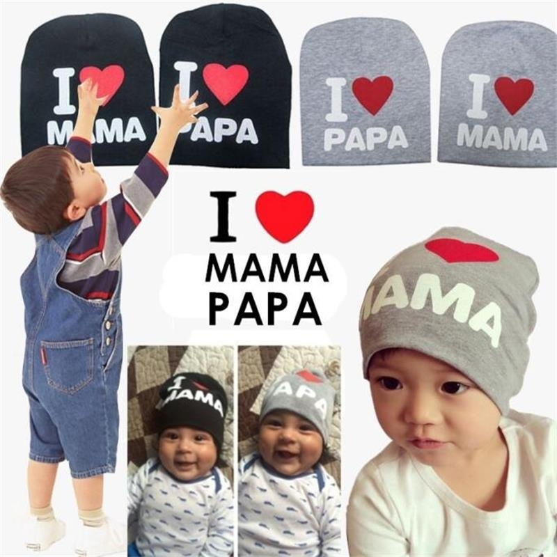 Baby Party Hats Toys Newborn Boys I Love Mama/papa Toys Beanie Photography Props Gifts For Bay Knitted Hat Toys For Children