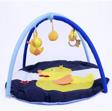 Big yellow duck baby crawling mat baby fitness game puzzle toys lucky john croco spoon big game mission 24гр 004