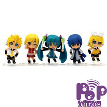 High Quality Pop PVC Hatsune MIKU Action Figures toys 5PCS/SET Free Shipping