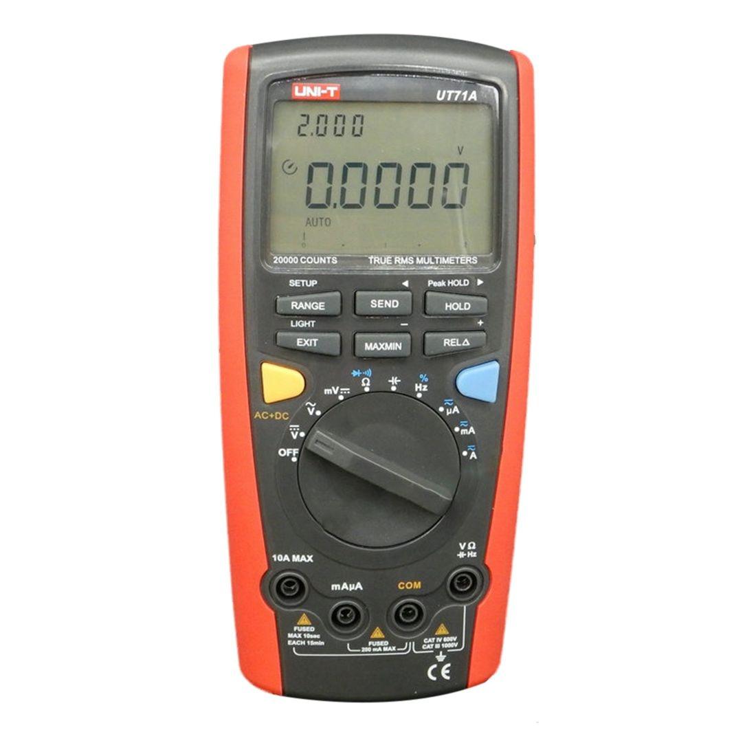 UNI-T 1set UT71A Intelligent Digital Multimeters CD Digital AC DC current voltage USB true Resistance Tester Ammeter Multitester мультиметр uni t uni t ut71b alicate amperimetro ac dc