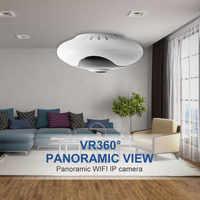 Macchina fotografica panoramica a 360 gradi fisheye VR nessun morto angolo di Webcam di visione notturna di HD macchina fotografica del ip di wifi telecamera di sicurezza