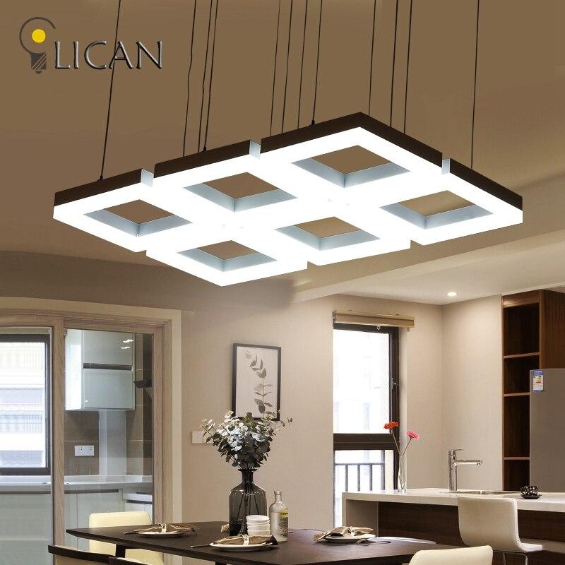 Lic n rect ngulo colgantes modernas luces colgantes para - Luces para comedor ...