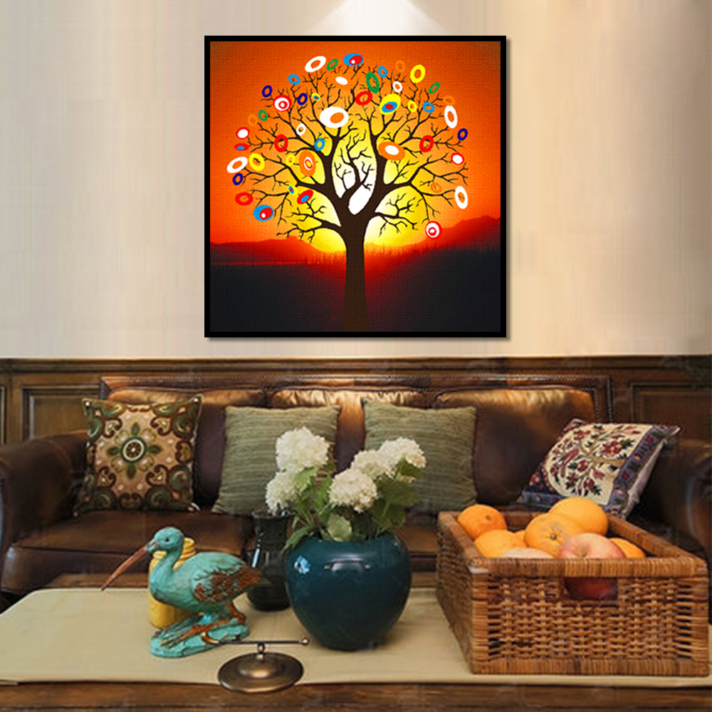 Unframed Multiple Pieces HD Canvas Painting Abstract Color Dry Tree Prints Wall Pictures For Living Room Wall Art Decoration