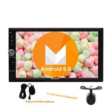 Quad Core CPU double din Android 6.0 Car No-DVD Player two 2din Wifi Bluetooth Radio Stereo GPS Navigation Capacitive screen