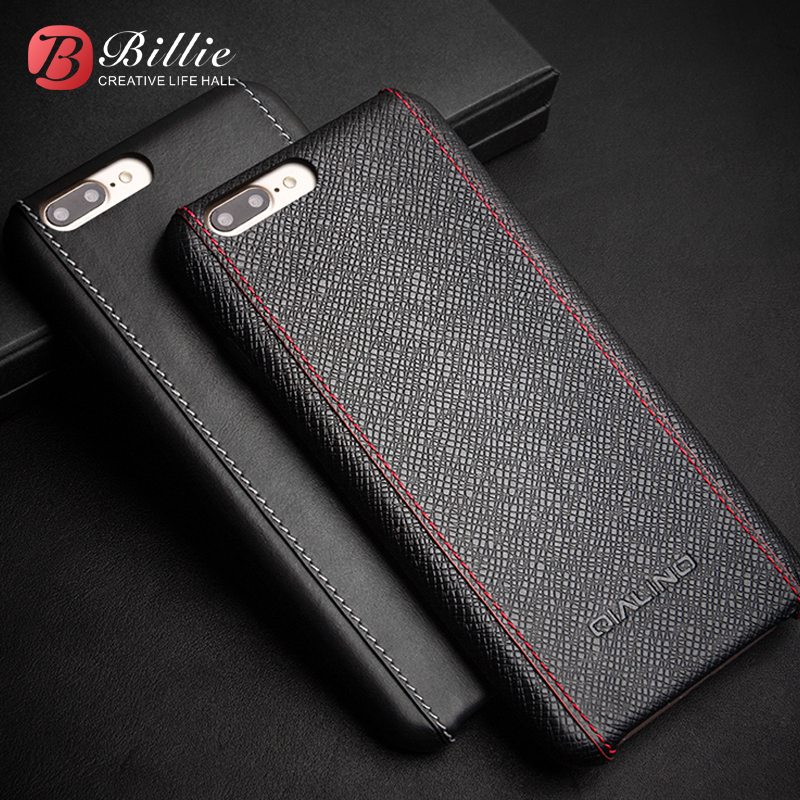 For iphone 7 Luxury Calf Skin Genuine Leather Cover for iphone 7 plus Ultra Slim fashion for 4.7/5.5 inch Ultra Slim Case