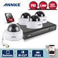 ANNKE HD 1080 P 2.0MP 4CH NVR Сети PoE Купольная Открытый CCTV Камеры Безопасности Система Видеонаблюдения Комплект 1 ТБ HDD