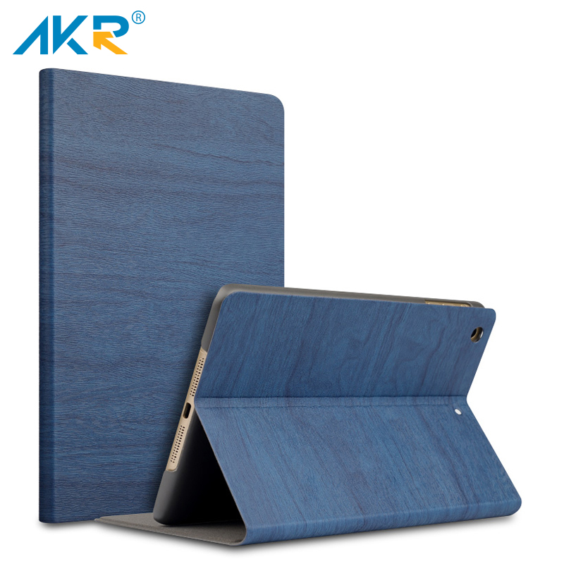 AKR Case for iPad 2 3 4 9.7 inch Stand cover Fashion PU Wood Grain Leather wake sleep free shipping Protector film newest hard shell leather cover case for kobo aura h2o 6 8 inch ebook wake up and sleep screen protector stylus pen