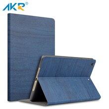 AKR Caso para el ipad 2/3/4 9.7 pulgadas cubierta Del Soporte moda PU Cuero De Grano De Madera película Protectora sleep wake envío gratis