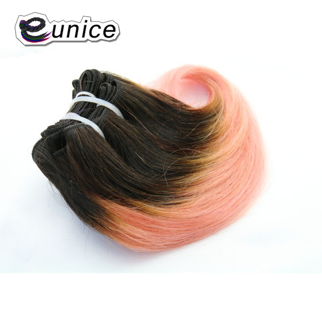 Body Wave Short Weave Ombre Synthetic Braiding Hair Sew In Hair