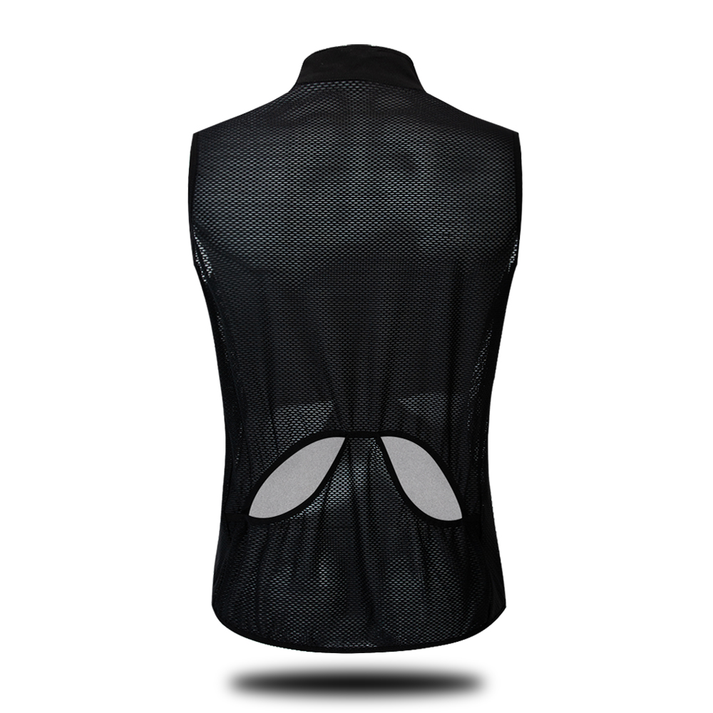 Wolfbike Full Back Mesh Sleeveless Cycling Jerseys Front Water Resistance Breathable Riding MTB Bike Wear Cycle Gilet Waistcoat in Cycling Jerseys from Sports Entertainment