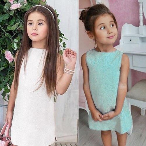 Toddler Kids Baby Girls Summer font b Dress b font Flower Sleeveless Love Princess Party Pageant