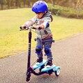 Ребенок Складной Скутер Мальчик Детская Коляска Извилистые Автомобиля Ребенок Флэш Колесо Девушка Игрушка