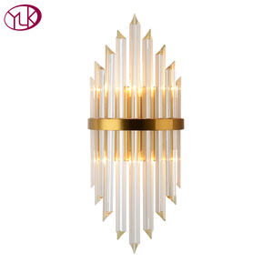 Image 5 - Youlaike Luxury Gold Wall Lamp Modern Crystal Wall Sconce Lighting Fixture Living Room Bedside Stainless Steel LED Wall Light