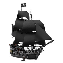New LEPIN 16006 804Pcs Pirates Of The Caribbean The Black Pearl Ship Model Building Kits Minifigure Blocks Bricks Toys Gift 4184