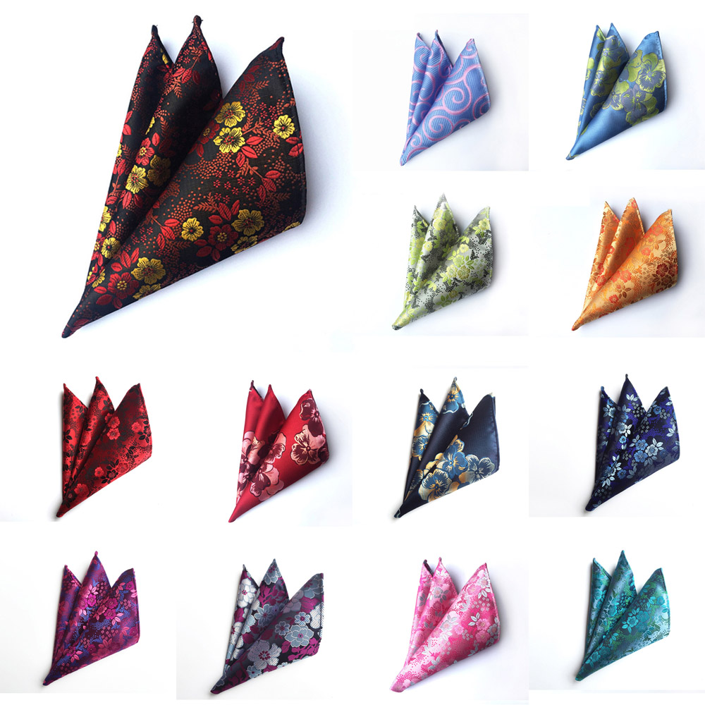 Men Fashion Colorful Paisley Floral Pocket Square Handkerchief Wedding Hanky NEW BWTHZ0227