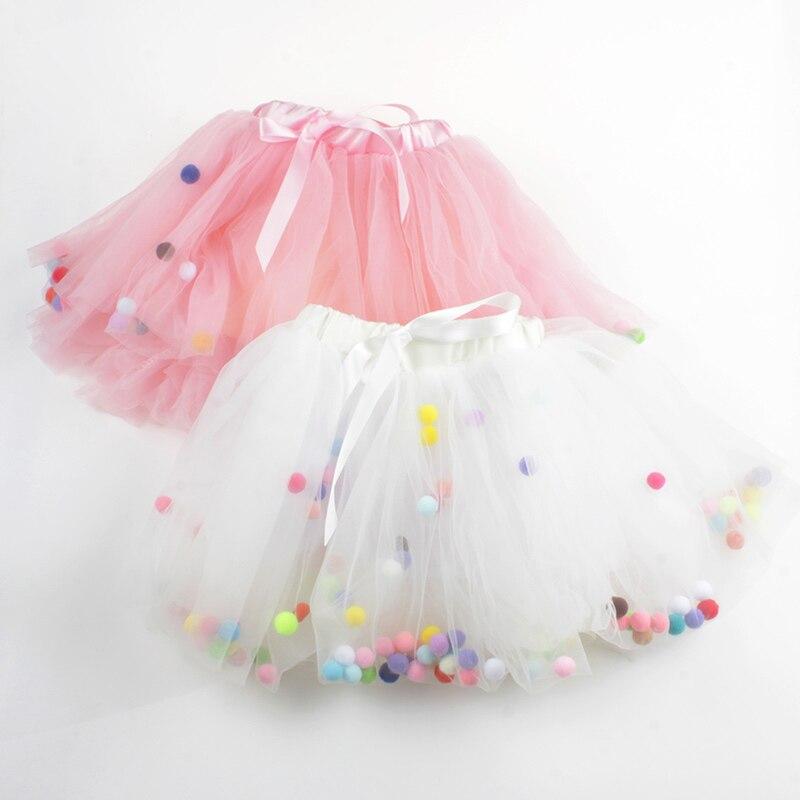 4 Layers Balls Girls Tutu Skirt Soft Mesh Lace Children Skirts Ins Hot Style Baby Tutu Skirt Wild Bottoming Princess Skirt