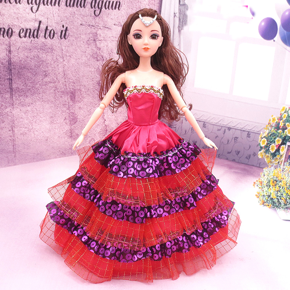 NK One Pcs Princess Doll New handmake marriage ceremony Gown Trend Clothes Robe For Barbie Sizzling Dolls Equipment Finest Present 067D